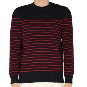Saint James Parisian Stripe Sweater 100% Pure Wool